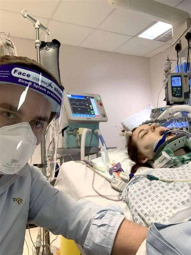 Rachael Thorold in hospital