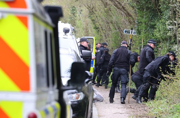 Police forensics in snowdon