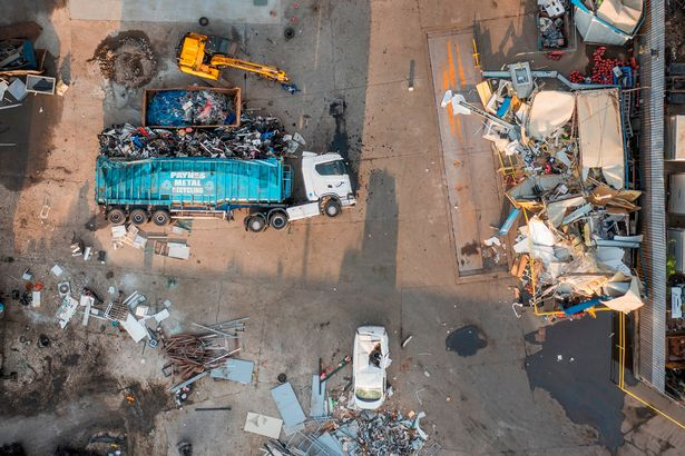 Aerial shots show the devastation caused