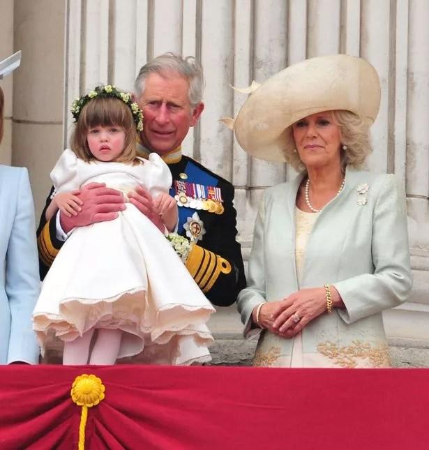 Eliza Lopes with Prince Charles and Camilla at the royal wedding