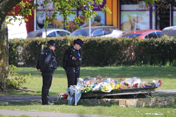 Tributes left in memory of the popular PCSO following her death on Tuesday