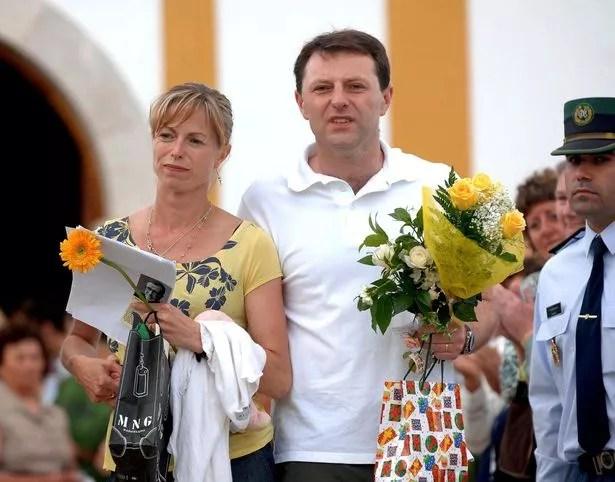 Gerry and Kate McCann walking from the local church in Praia Da Luz
