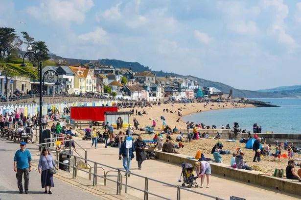 Brits spent time in the sun in Lyme Regis, Dorset