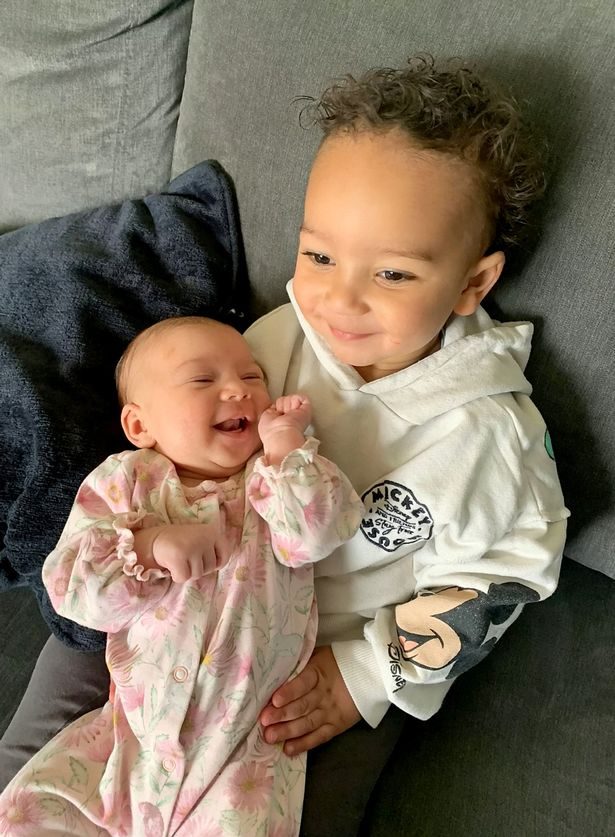Baby Siena with her brother Luca