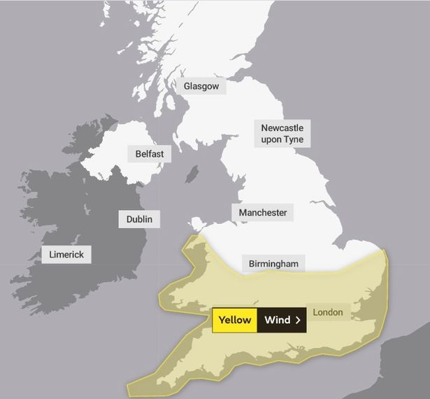 Met Office weather warning for Monday May 3rd