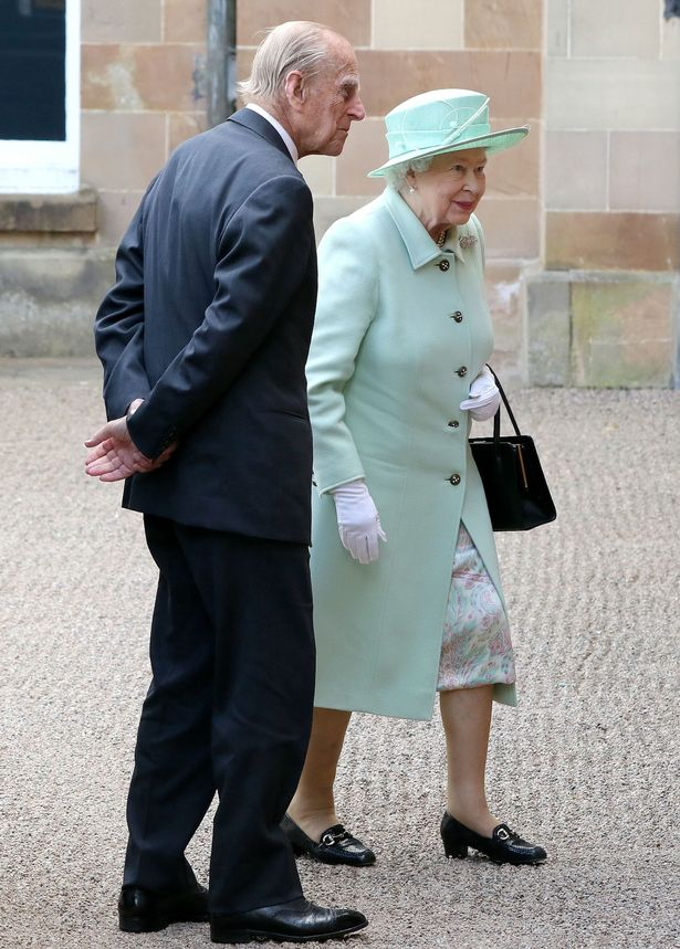 The Queen and Philip arrive at Hillsborough Castle, south of Belfast