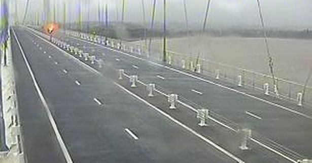 The Severn Bridge was shut last night due to dangerous driving conditions
