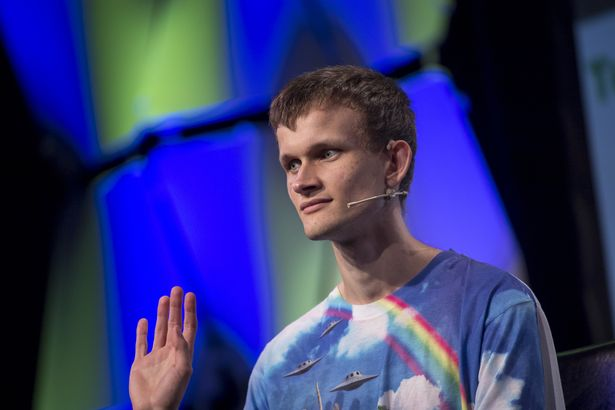 Vitalik Buterin, co-founder of Ethereum Foundation and Bitcoin Magazine, speaks during the TechCrunch Disrupt 2017 in San Francisco, California, U.S., on Monday, Sept. 18, 2017. TechCrunch Disrupt, the world's leading authority in debuting revolutionary startups, gathers the brightest entrepreneurs, investors, hackers, and tech fans for on-stage interviews. Photographer: David Paul Morris/Bloomberg via Getty Images
