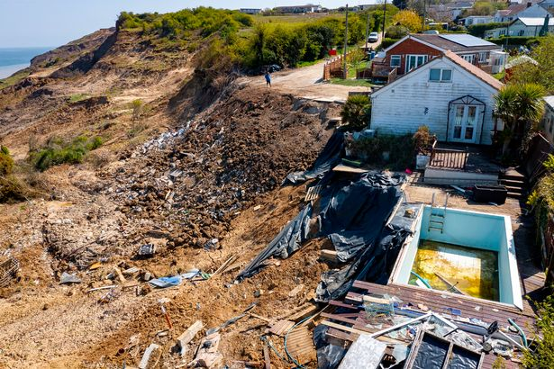 The swimming pool and remains of the house around it is what is left of the Tulle's house