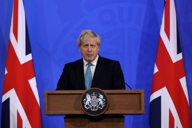 The Prime Minister speaking at a press conference in Downing Street on Friday