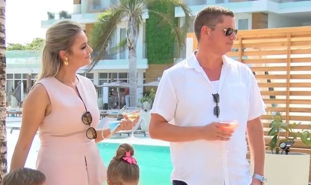 Jasmine Hartin is pictured with her husband Andrew Ashcroft at a ribbon-cutting ceremony for their new resort