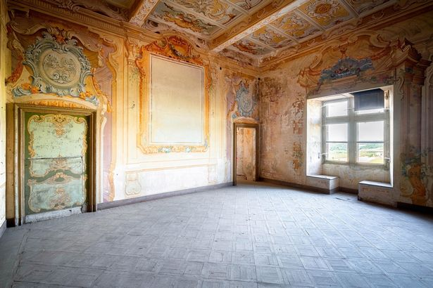 Inside one of the reception rooms in the castle