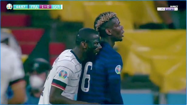 Paul Pogba speaks out on alleged bite incident with Antonio Rudiger in Euro  2020 clash - Mirror Online