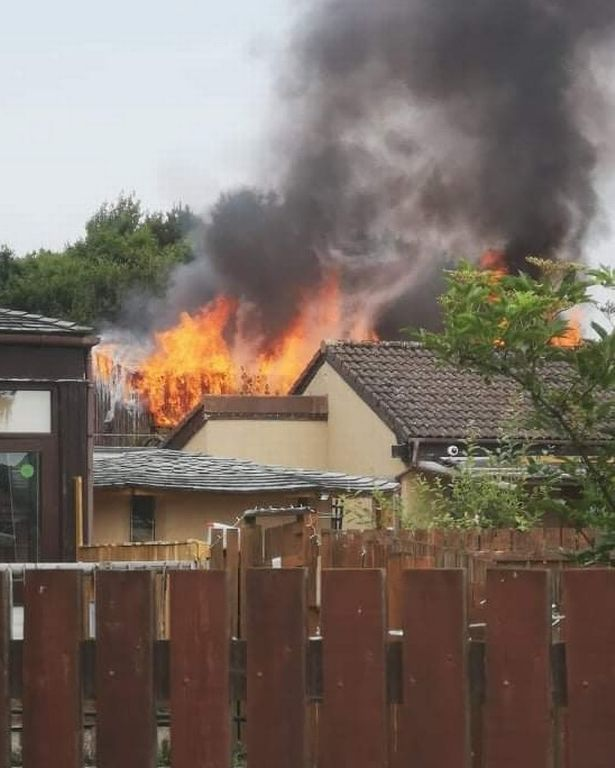 Huge flames and smoke have erupted from Fife Zoo in Scotland