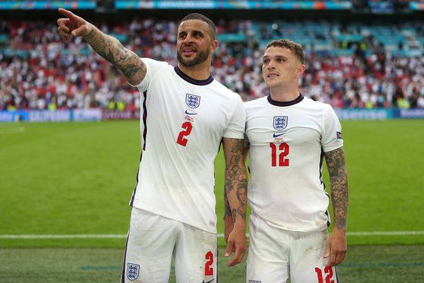 Kyle Walker and Kieran Trippier were two of four right-backs called up to Southgate's initial Euro 2020 squad
