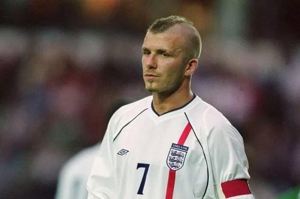 David Beckham playing for England