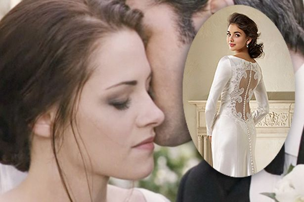 alfred angelo has created an exclusive licensed replica of bella swan s wedding dress