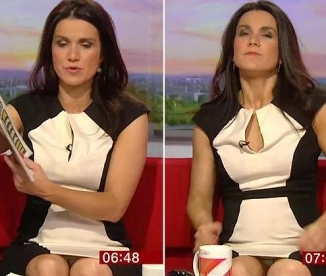 Susanna Reid Struggles With Her Very Short Skirt Again On Good Morning Britain Mirror Online