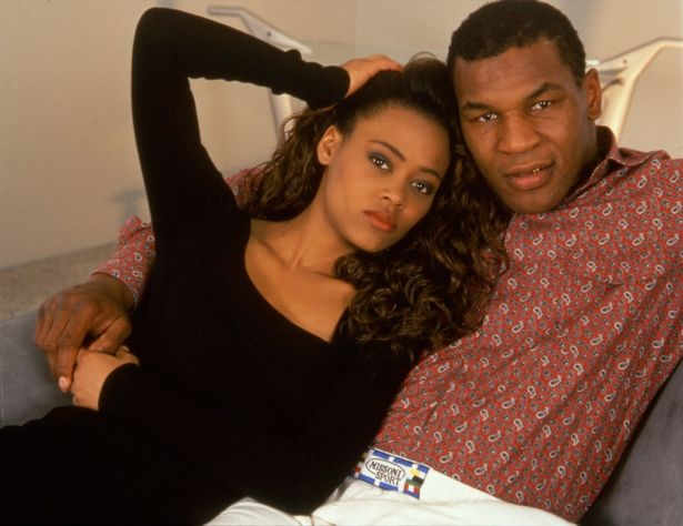 Mike Tyson and his first wife Robin Givens