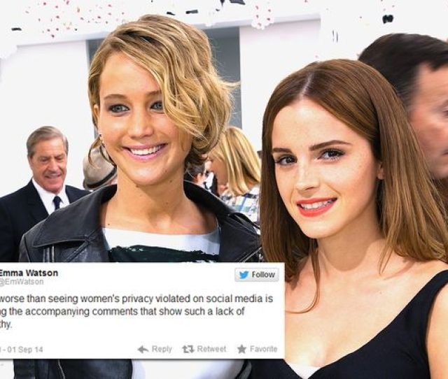 Emma Watson And Jennifer Lawrence At The Christian Dior Show In Paris Emma Watson Tweets
