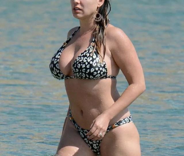 Kelly Brook And Her Fiance David Mcintosh On Psarou Beach