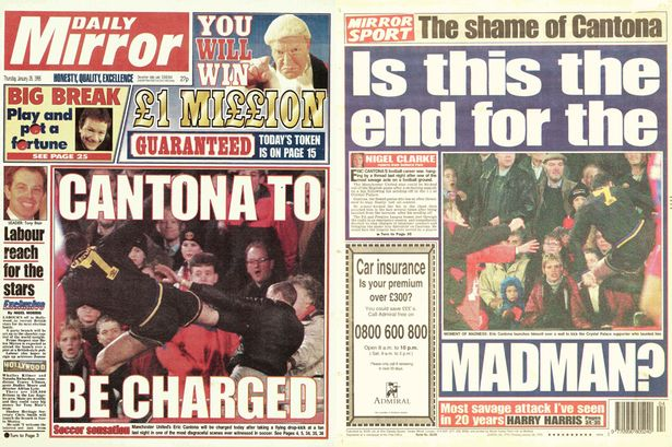 The only thing i regret. Eric Cantona S Kung Fu Kick Eyewitness Accounts From Selhurst Park 20 Years On Mirror Online