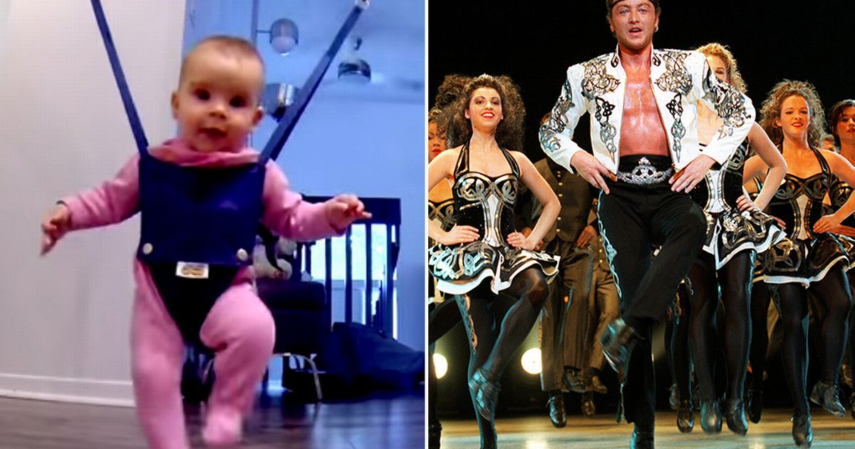 Michael Flatley eat your heart out! Watch super-cute baby perform hilarious Lord of the Dance-style jig - Mirror Online
