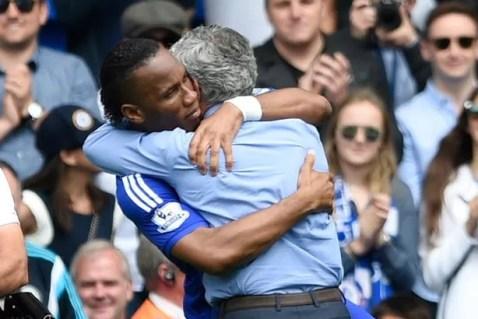 Image result for drogba and mourinho