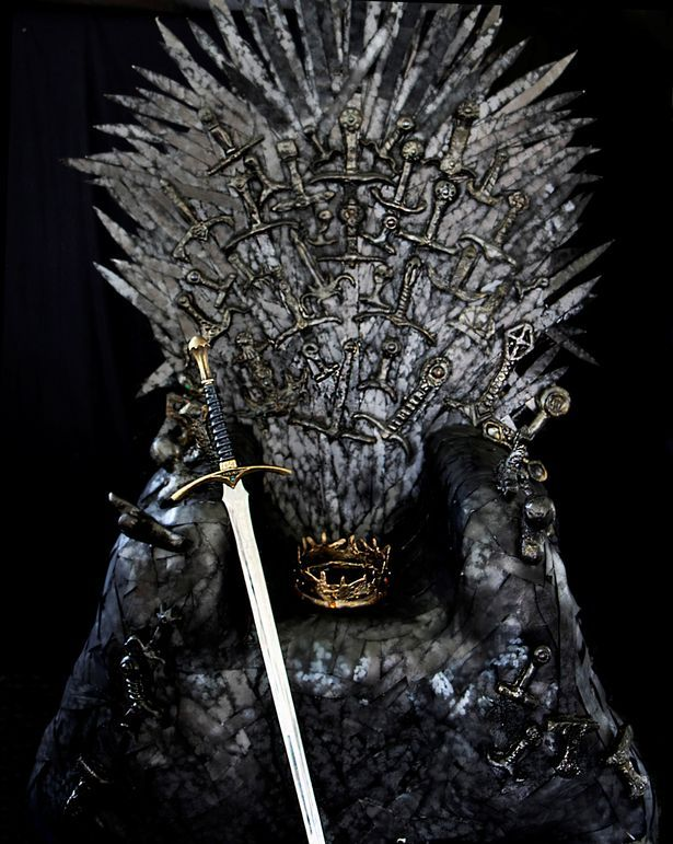 iron throne chair white chairs for bedroom game of thrones fan creates her own incredible replica thumbs up the has been given green light by hbo who have approved victoria s creation