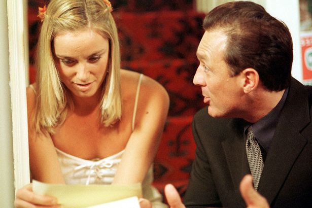 Tamzin Outhwaite and Martin Kemp in Eastenders