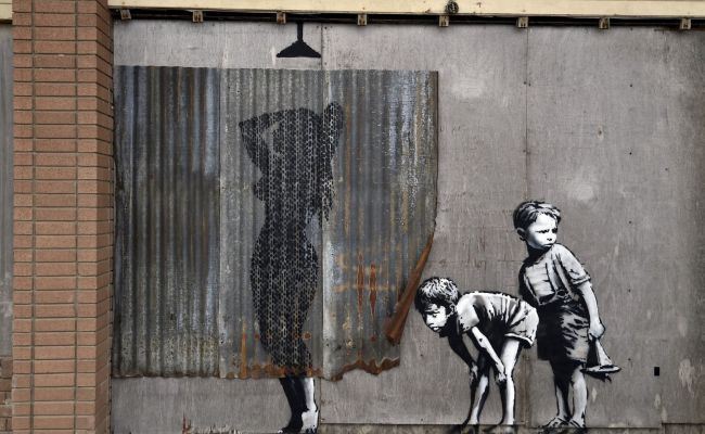 Banksy Exhibition At Tropicana Site At Weston Super Mare