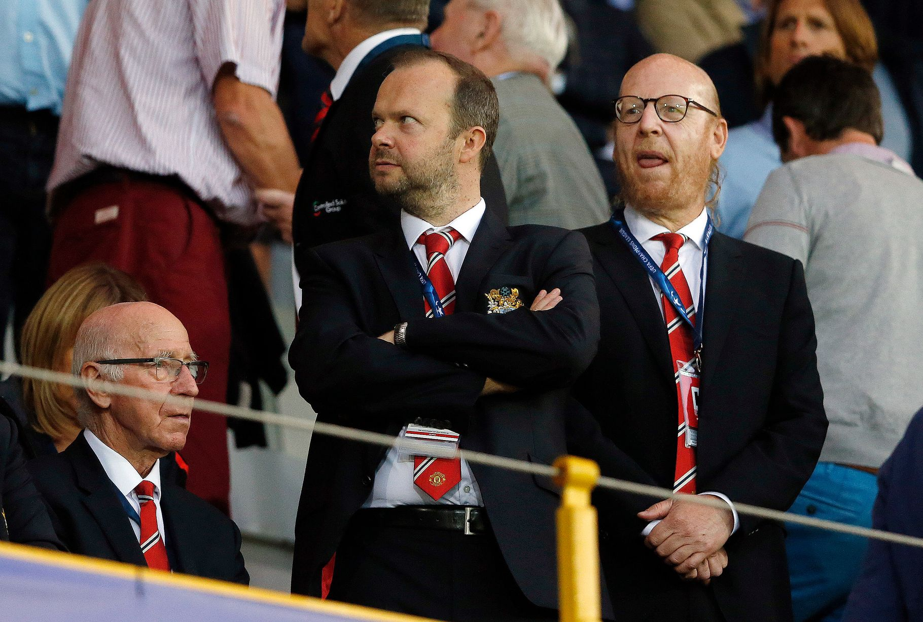executive chairman vs ceo black spindle dining chairs manchester united directors and ambassadors mirror online