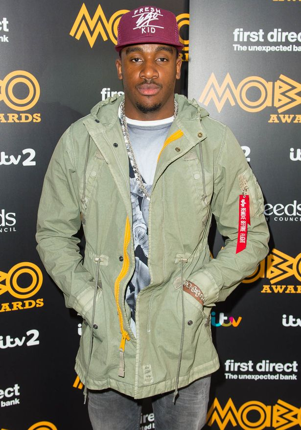 Bugzy Malone at the Mobo Awards 2015 Nominations, at Ronnie Scott's, London