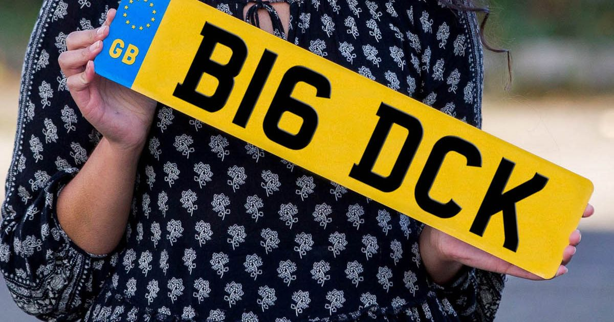 Rude number plates banned by DVLA revealed and its bad