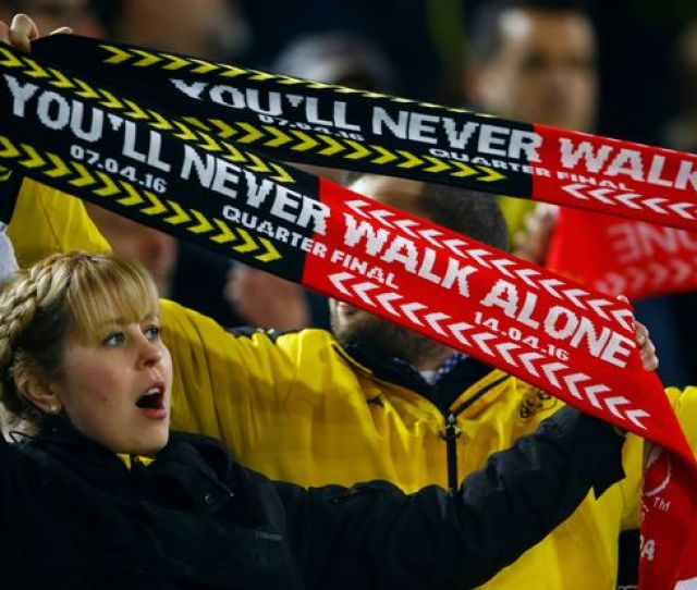 Why Borussia Dortmund Vs Liverpool Is The Only Game Where Half Half Scarves Are Acceptable Mirror Online