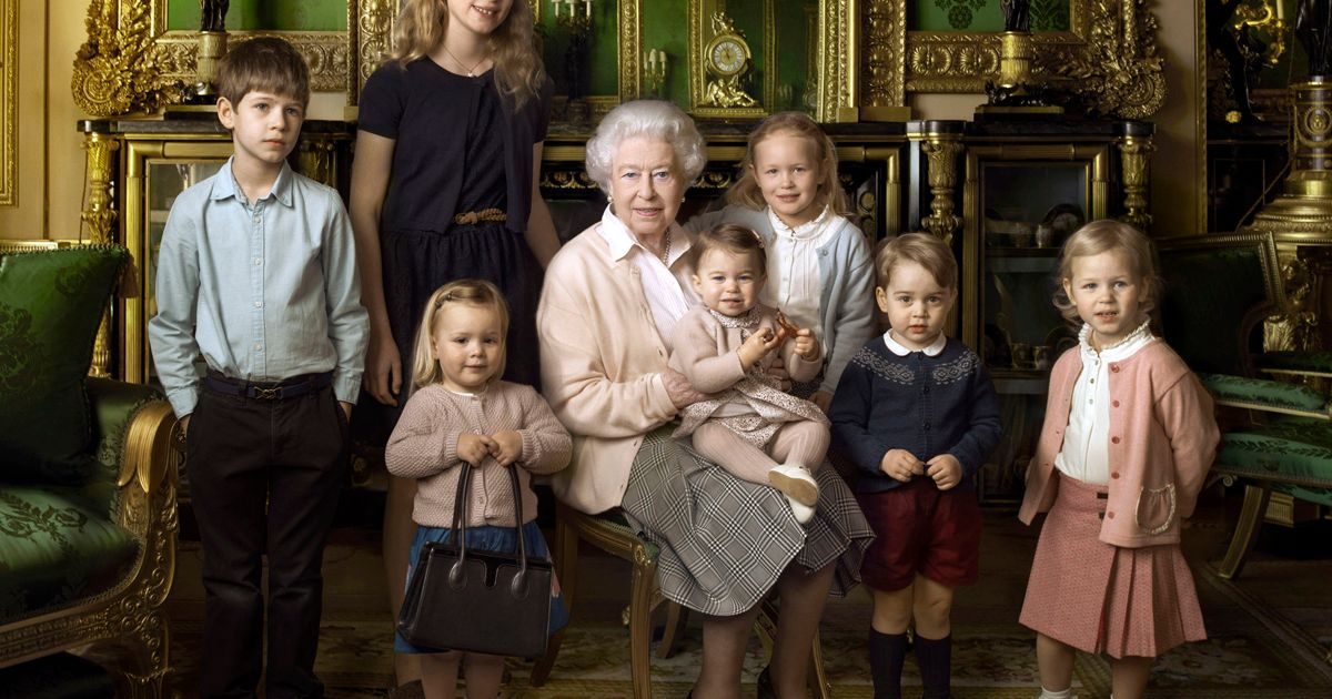 Queen Poses With Princess Charlotte On Lap As She