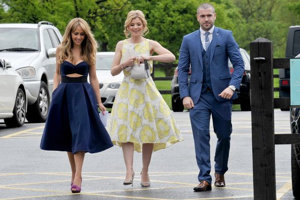 First pictures of Catherine Tyldesleys wedding as she was serenaded by on screen boyfriend
