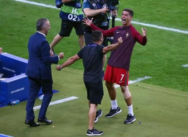 Cristiano Ronaldo leads Portugal's Euro 2016 celebrations as his tears of  despair turn into joy - Mirror Online