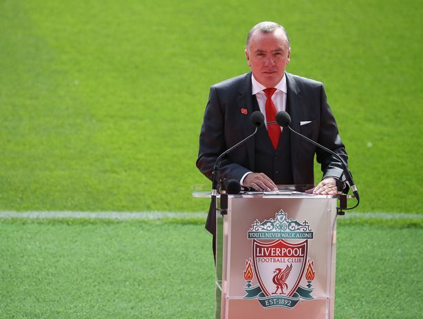 Liverpool CEO Ian Ayre speaks at the opening of the main stand