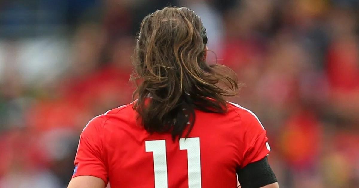 Gareth Bales Hair Falls Out Of His Man Bun During Wales