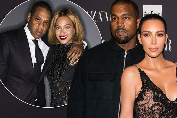 Image result for Beyonce & Jay-Z Kim Kardashian & Kanye West