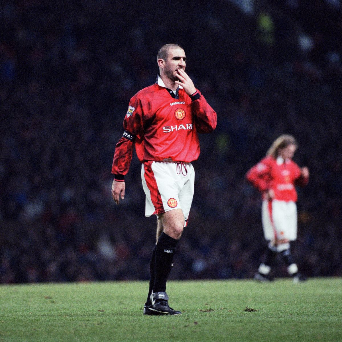 Manchester united eric cantona 7 black away shirt. Eric Cantona Gets In My All Time Man United Side Team Mates Discuss French Maverick 20 Years After Retirement Mirror Online
