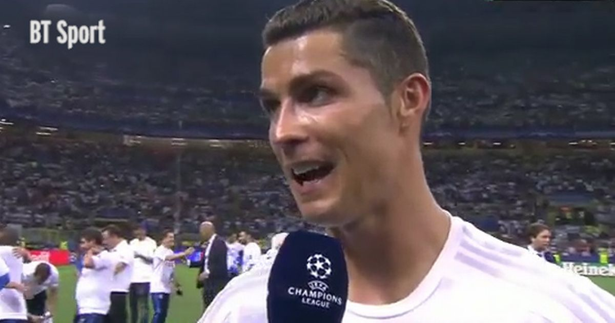 Watch Cristiano Ronaldos Post Match Interview As He