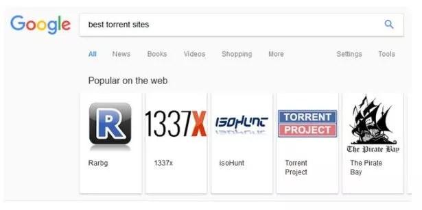 google lists best torrent