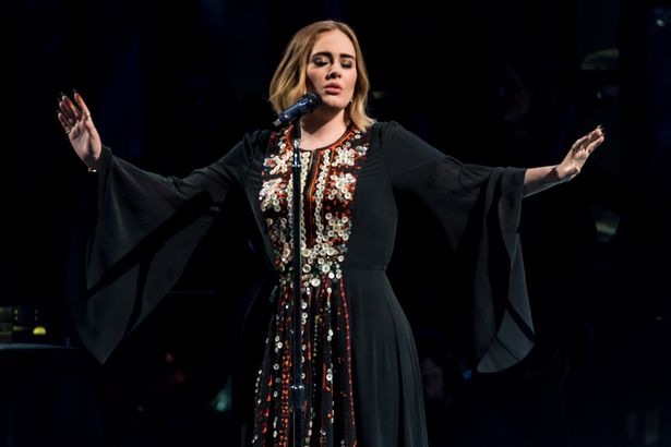 Adele wore the dress as she performed on The Pyramid Stage at Glastonbury in 2016