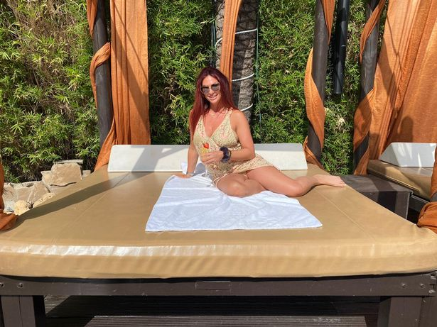 RHOC star Lauren Simon in her bikini in Marbs