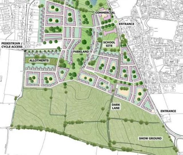 Plans Unveiled In September  Showing A Green Spine Linking A New