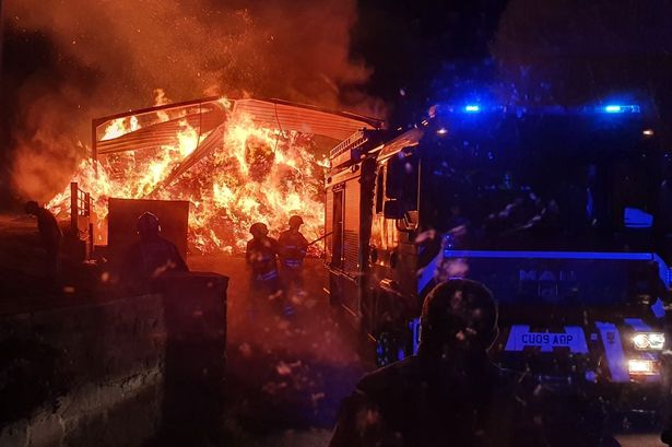 barn destroyed in intense