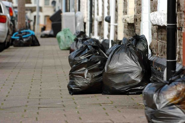 council sofa collection cardiff kivik chaise sofas carpets mattresses just some of the items a resident black bin bags left out for in splott