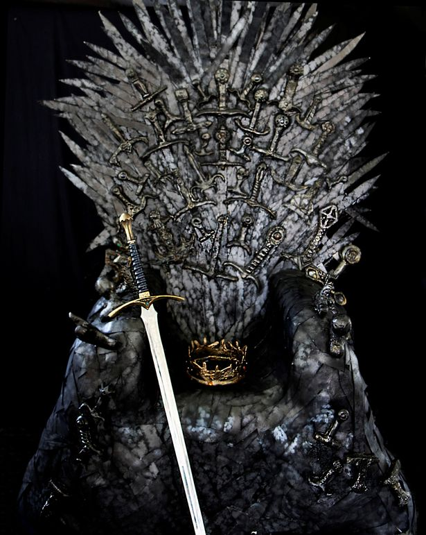 game of throne chair large round swivel cover thrones fan creates her own replica iron which is so the